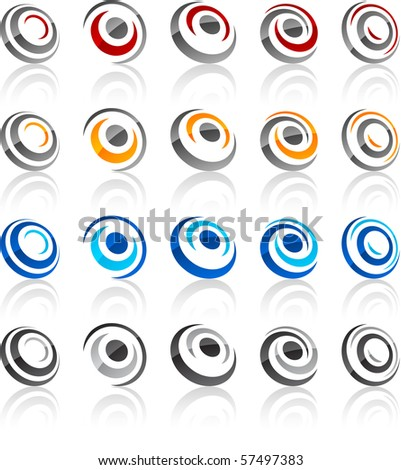 Vector illustration of round symbols. - stock vector