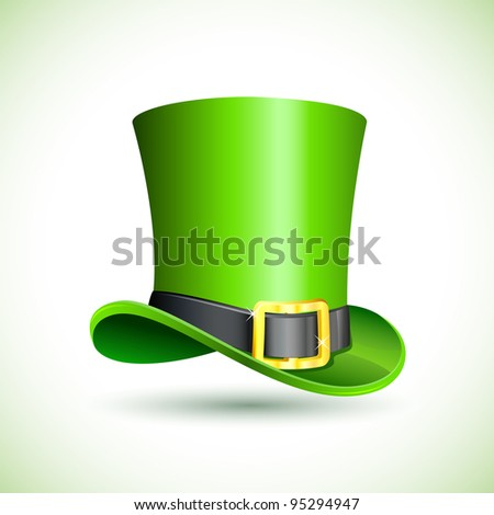 vector illustration of saint patrick's hat on abstract background - stock vector