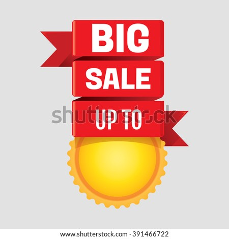 Vector illustration of Sale poster