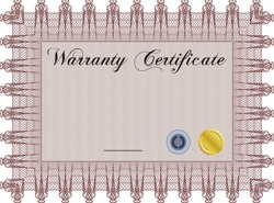 Frame free photos icons vectors videos freestock vector illustration of sample warranty certificate template very detailed complex frame and background free download yadclub Gallery