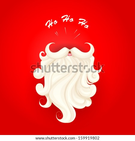 vector illustration of Santa Claus in Merry Christmas background - stock vector
