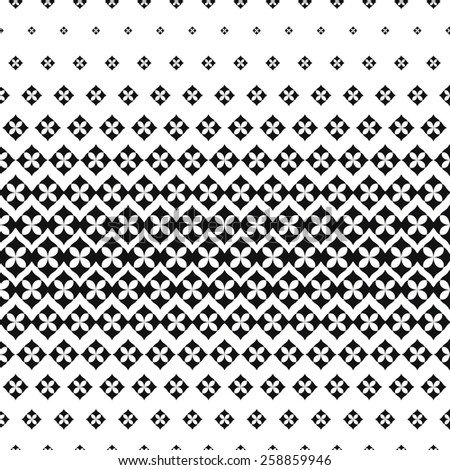 Vector Illustration of Scattered Leaf Seamless Pattern for Design, Website, Background, Banner. Floral and Geometric Ornament Texture Template for Wallpaper or Textile. Black and White Color - stock vector