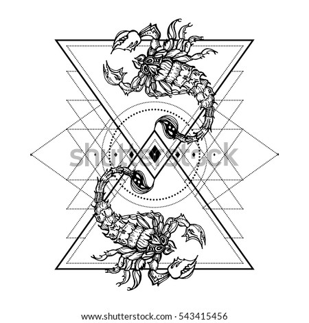 Scorpion Tattoo Stock Images Royalty Free Images