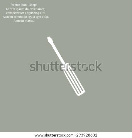 vector illustration of screwdriver - stock vector