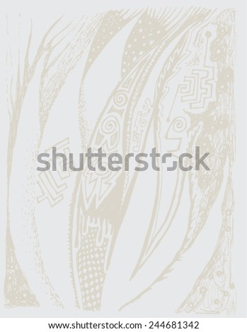 Vector illustration of seamless background. Grunge, distorted, white paper.  - stock vector