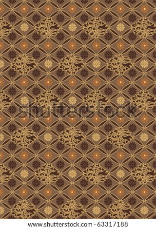 Vector illustration of seamless floral pattern - stock vector