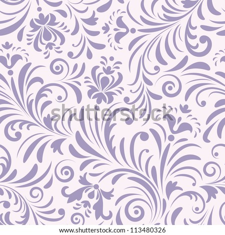 Vector illustration of seamless pattern with abstract flowers.Floral background - stock vector