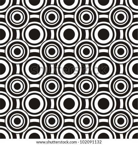 Vector illustration of seamless pattern with circles - stock vector
