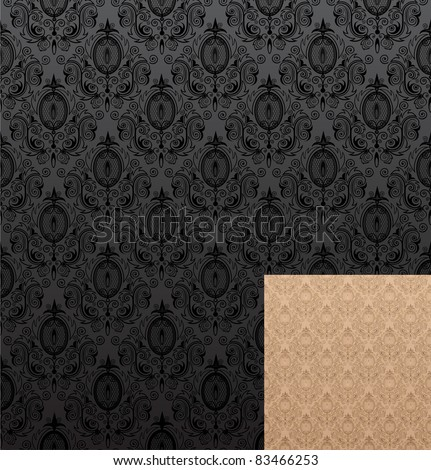 Vector illustration of seamless wallpaper patterns - stock vector