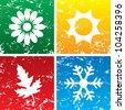 Vector illustration of season backgrounds. - stock vector