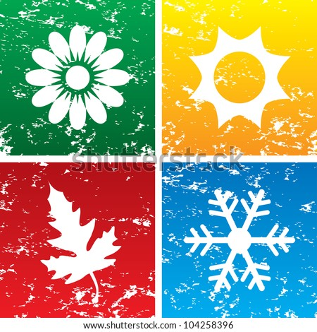 Vector illustration of season backgrounds. - stock vector