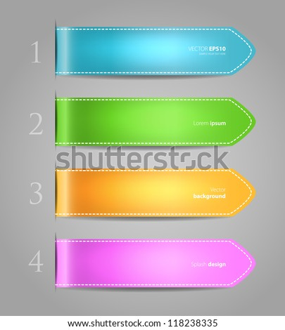 Vector illustration of Set of color stickers