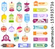 vector illustration of set of colorful Sale and Promotion Tag - stock vector