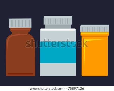 Vector Illustration of Set of Medicine Bottles