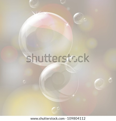Vector illustration of shiny bubbles
