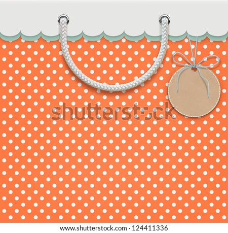 Vector illustration of shopping concept based on retro paper bag design. - stock vector