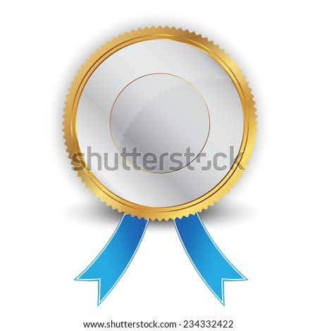Vector illustration of silver and gold seal
