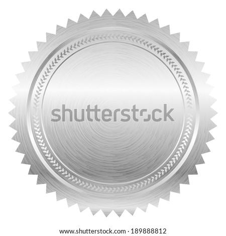 Vector illustration of silver seal - stock vector