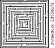 Vector illustration of simple vector maze - stock vector