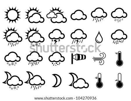 Vector illustration of simple weather icons