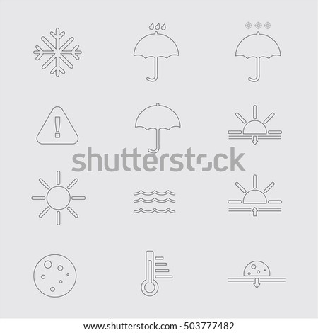 Vector illustration of simple weather icons set