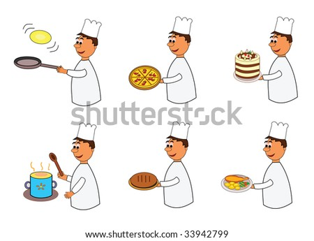 Vector illustration of smiling chef or cook.