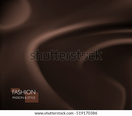 vector illustration of smooth elegant luxury chocolate silk or satin texture. Can be used as background