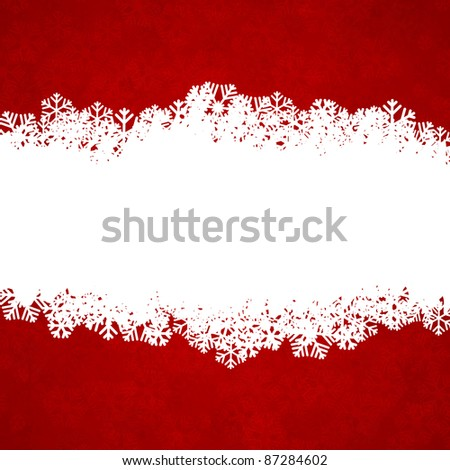 Vector illustration of snowflakes texture. Christmas background. - stock vector