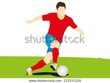 Vector illustration of Soccer player,Football.