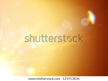 Vector illustration of soft orange abstract background - stock vector