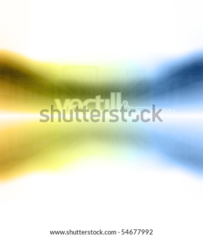 Vector illustration of soft retro colored motion zoom to a horizon design. - stock vector