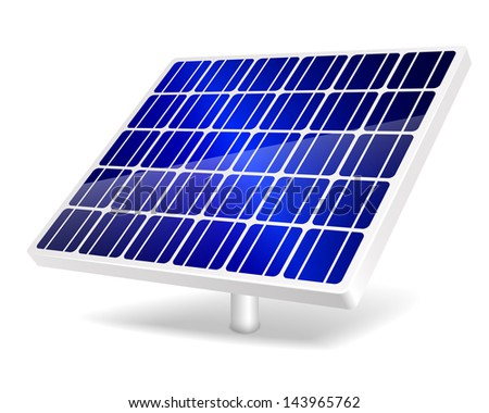 Vector illustration of Solar Panel icon. EPS10. - stock vector