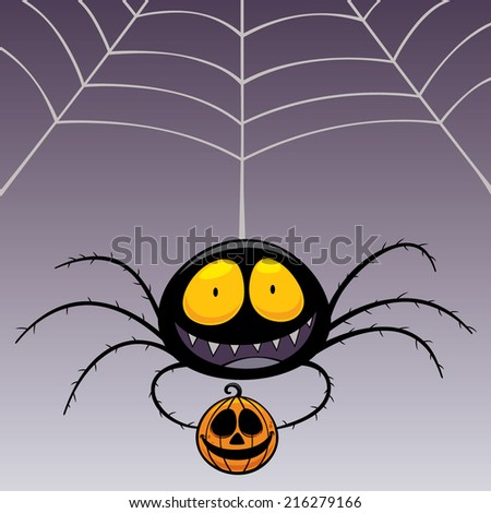 Vector illustration of Spider - stock vector