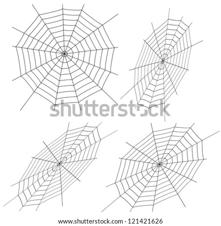 Vector illustration of spiders web - stock vector
