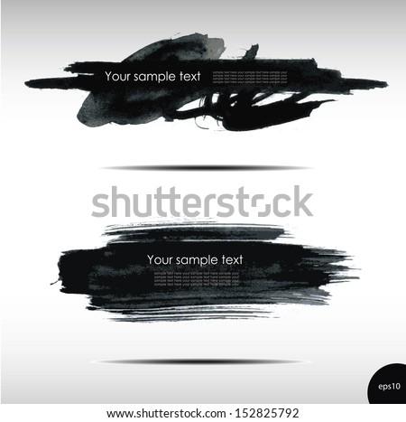 Vector illustration of Splash banners set - stock vector
