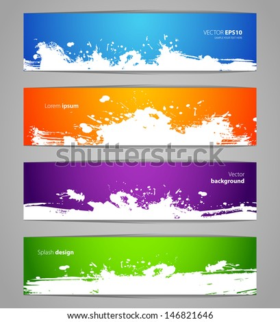 Vector illustration of Splash designs set - stock vector