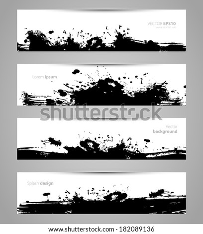 Vector illustration of Splash designs set eps 10 - stock vector