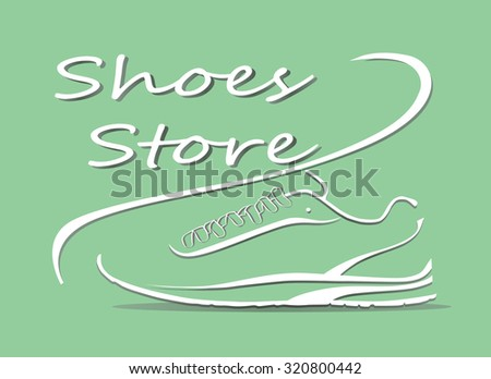 Vector illustration of Sport shoes for running - stock vector