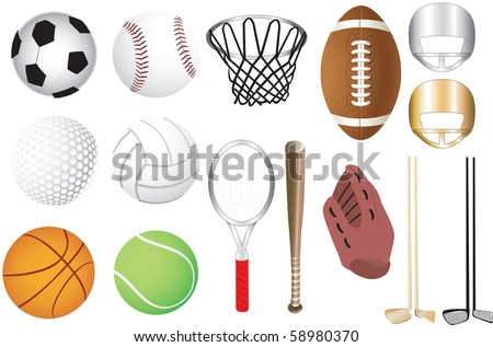 Vector Illustration of 15 sports icons isolated. Available in other versions. - stock vector