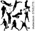 Vector illustration of Sports Silhouettes - stock vector