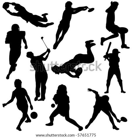 Vector illustration of Sports Silhouettes