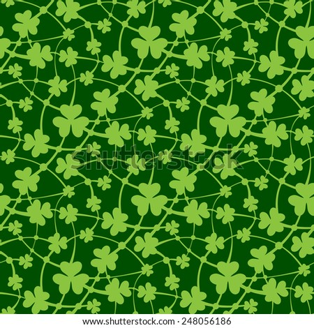 Vector illustration of St. Patrick day seamless pattern - stock vector
