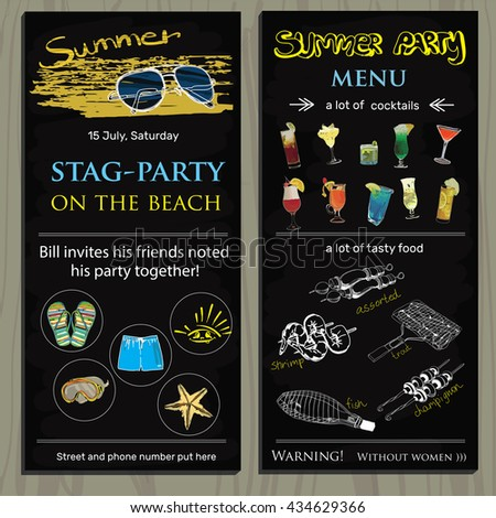 Stagparty Vectors Images Vector Art – Stag Party Invites