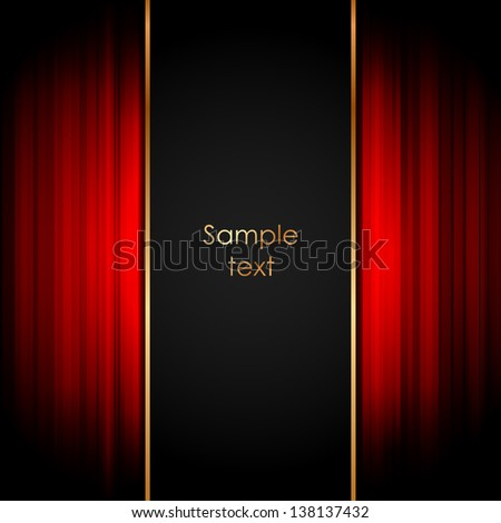 Vector illustration of stage - stock vector