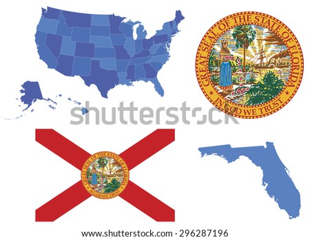 Miami Map Stock Images RoyaltyFree Images Vectors Shutterstock - Us map with florida highlighted