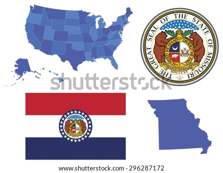 Missouri State Stock Images RoyaltyFree Images Vectors - Missouri state map usa
