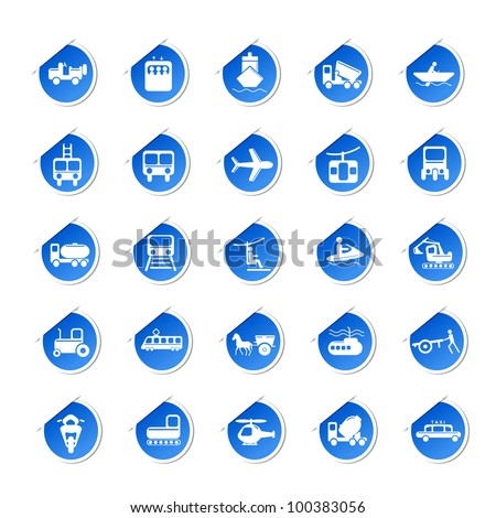 vector illustration of sticker of transport icon against isolated background - stock vector