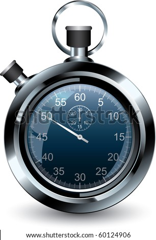Vector illustration of stopwatch - stock vector