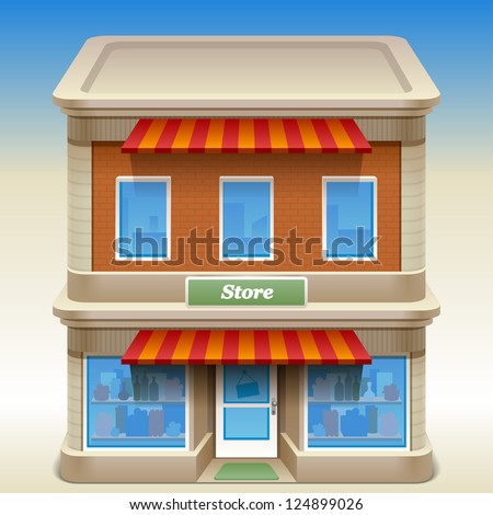 vector illustration of store - stock vector