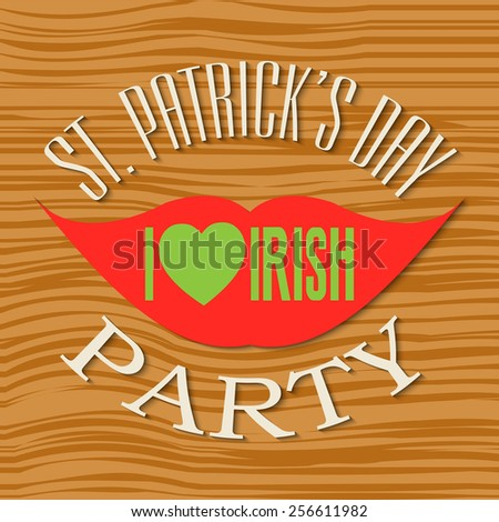 Vector illustration of stylish text for Happy St. Patrick's Day. - stock vector